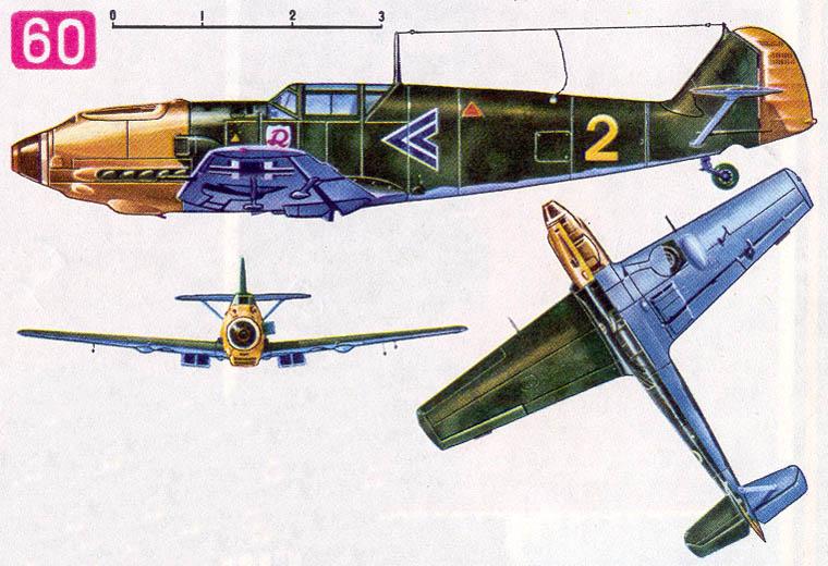 Истребитель «Мессершмитт Bf-109E-3» (Германия, 1939)